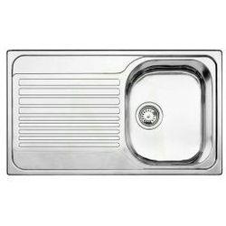 Zlewozmywak stalowy Blanco TIPO 45 S Compact C, wpuszczany w blat - stal matowa 517151