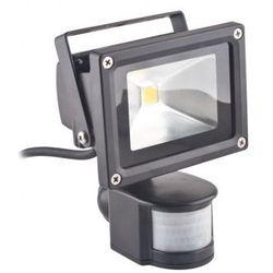 Superled Oprawa lampa naświetlacz halogen Led 10W barwa zimna z czujnikiem ruchu PIR