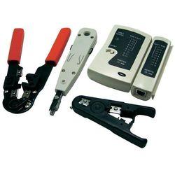 Zestaw narzędzi sieciowych LogiLink WZ0012, tester kabli RJ-45, zaciskarka