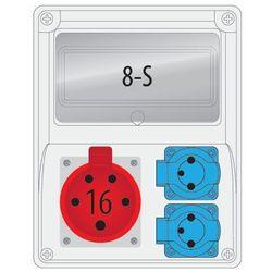 Rozdz.R-BOX 240 8S 1x16/5,2x230V puste okno ROZDZ.R-BOX 240/ 8S 1X16A/5P 2x230V
