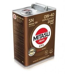 MITASU GOLD PAO SN 0W-40 100% SYNTHETIC 4L