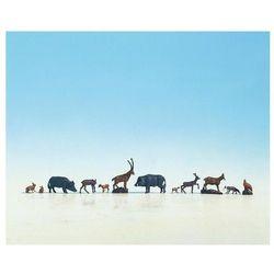 Figurki leśnych zwierząt w skali H0, malowane, 11 szt.