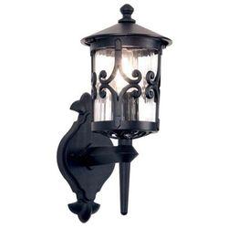 Zewnętrzna LAMPA ścienna HEREFORD BL10 Elstead KINKIET metalowa OPRAWA ogrodowa IP23 outdoor czarny