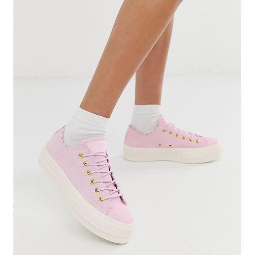 2bd5c7cbae4b6 Converse Chuck Taylor Ox frills platform pink trainers - Pink ...