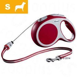 Smycz dla psa Flexi Vario S czerwona, 8 m - Lampka LED-Lighting-System
