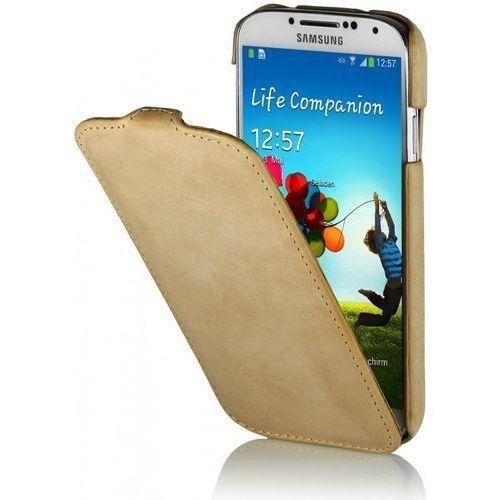 Skórzane etui Stilgut UltraSlim Old Style - piaskowe - Samsung Galaxy S4