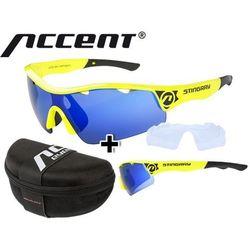 610-40-64_ACC Okulary Accent STINGRAY żółte fluo, soczewki: szare z czarno-niebieskim lustrem, przezroczyste