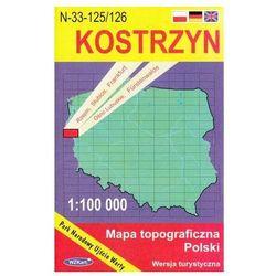 WZKart: KOSTRZYN 1:100 000 mapa topograficzna Polski wydanie turystyczne (opr. miękka)