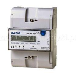 ORNO 3-FAZOWY WSKAŹNIK ZUŻYCIA ENERGII ELEKTRYCZNEJ 3x20(120)A