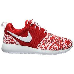 "Buty Nike Rosherun Print (GS) ""University Red"" (677784-605) - Model ||Czerwony Promocja (-13%)"