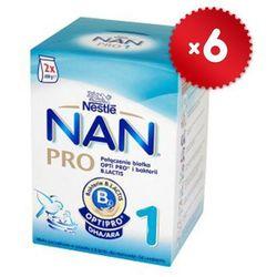 Zestaw 6x NESTLE NAN PRO 1 800g (2x400g) Mleko początkowe z B.Lactis d