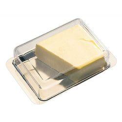 Półmisek na masło ze stali nierdzewnej 16x9,5 cm. APS 00063
