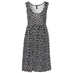 Sukienka bonprix czarno-biały w groszki