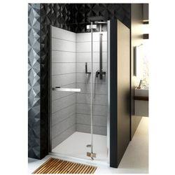 AQUAFORM HD COLLECTION Drzwi wnękowe 90 prawe, profile chrom, szkło transparentne + DP Active 103-09396