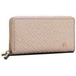 8f9494c67925d Duży Portfel Damski TORY BURCH - Fleming Zip Continental Wallet 46542 Shell  Pink 652