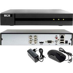 BCS-B-XVR0401 BCS Rejestrator do monitoringu domu, firmy, garażu HD-TVI AHD CVI IP