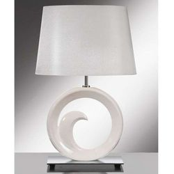 Stojąca LAMPA stołowa LUI/PEARL SMALL+LUI/LS1113 Elstead ceramiczna LAMPKA abażurowa biały srebrny