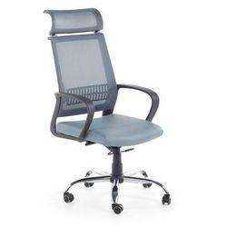 Krzesło biurowe niebieskoszare – fotel biurowy – obrotowy - siatka - LEADER