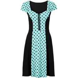 Sukienka w groszki bonprix morsko-czarny w groszki