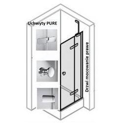Drzwi do ścianki bocznej PRAWE Huppe Enjoy ELEGANCE 120 cm, montaż na brodziku, chrom eloxal, szkło przeźroczyste 3T0205.092.321