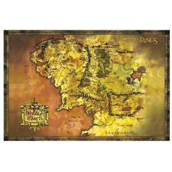 Władca Pierścieni Mapa - plakat