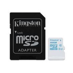 Karta pamięci Kingston MicroSDHC 16GB UHS-I U3 (90R/45W) + adapter (SDCAC/16GB)