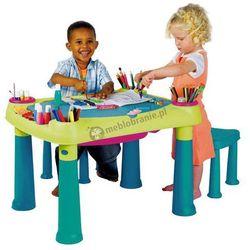 Stolik edukacyjny CREATIVE PLAY TABLE i 2 stołki