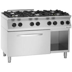 Kuchnia gazowa z piekarnikiem elektrycznym 2/1 GN | 6 palników