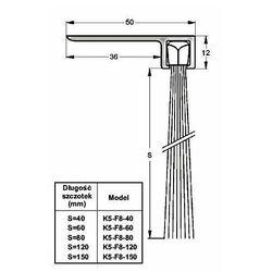 Listwa progowa STRIBO F8-40 1 mb