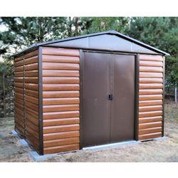 Domek ogrodowy metalowy Yardmaster Brown 2430 x 1970