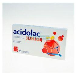 ACIDOLAC JUNIOR misio-tabletki o smaku truskawkowym 20 misio-tabletek