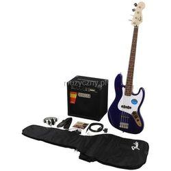 Fender Squier Affinity Jazz Bass Metallic Blue zestaw wzmacniacz Rumble 15 Płacąc przelewem przesyłka gratis!