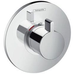 Bateria Hansgrohe Ecostat hansgrohe bateria termostatyczna podtynkowa ecostat s high flow element zewnętrzny chrom - 15756000 15756000