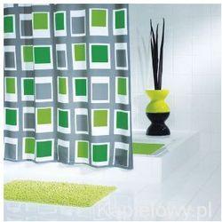 UP&DOWN poliestrowa zasłona prysznicowa, zielony 180x200cm 42935