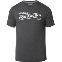 FOX T-SHIRT BANNER TECH HEATHER BLACK