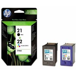 HP oryginalny ink SD367AE, No.21 + No.22, black/color, 190/165s, blistr, 2szt, HP 2-Pack, C9351AE + C9352AE