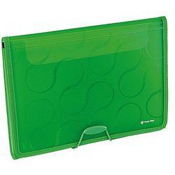 Teczka A4 z 6-przegródkami OMEGA zielona EX4315 Panta Plast 0410-0041-04