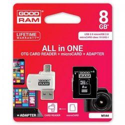 GOODRAM microSDHC 8GB CL10 + ADAPTER + CZYTNIK