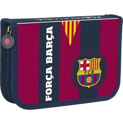 Piórnik pojedynczy 2 klapowy FC BARCELONA z wyposa