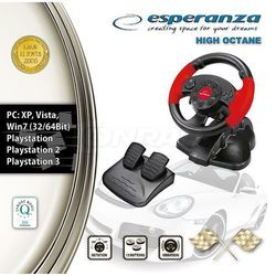 Kierownica Esperanza High Octane do PC PS1 PS2 PS3