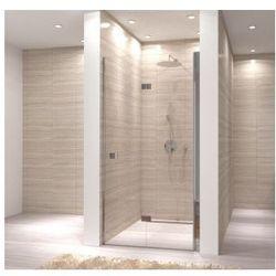 MY SPACE Drzwi prysznicowe składane 80x190, profile chrom, szkło transparentne EasyClean