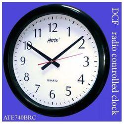 Zegar wodoszczelny czarny sterowany radiowo 40cm