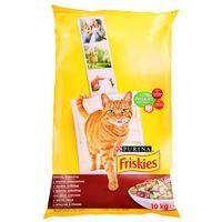 Friskies Cat Adult mięso, wątróbka, warzywa 10kg