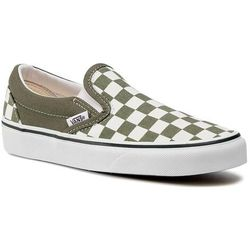 Tenisówki VANS - Classic Slip-On VN0A4U381GA1 (Chkrbrd) Grape Leaf/Trwht