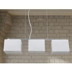 Lampa sufitowa wiszaca - zyrandol bialy - oswietlenie - GARONNE
