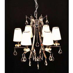 LAMPA wisząca GLAMOUR LDP 66247 - 6 Lumina Deco kryształowa OPRAWA ŻYRANDOL crystal chrom biały