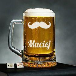 Wąsacz - Personalizowany Kufel - Kufel do piwa