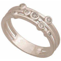 Pierścionek z białego złota z brylantami 24312