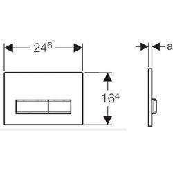Przycisk uruchamiający GEBERIT Sigma50 115.788.DW.5