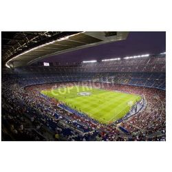 Fototapeta BARCELONA - SEPTEMBER 13: View of Camp Nou stadium before the Champions League match between FC Barcelona and